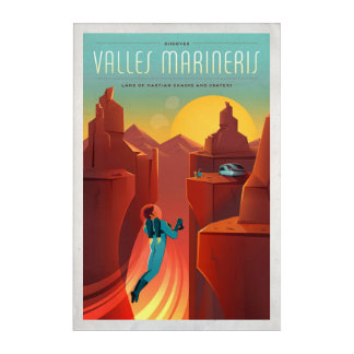Mars Valles Marineris Space Tourism Acrylic Wall Art