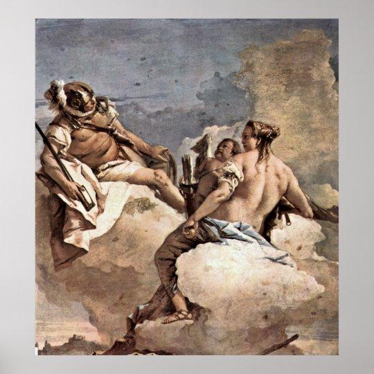Mars, Venus and Cupid by Giovanni Battista Tiepolo Poster