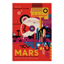 Mars Vintage Space Travel Poster