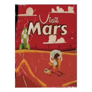 Mars Vintage Travel Poster