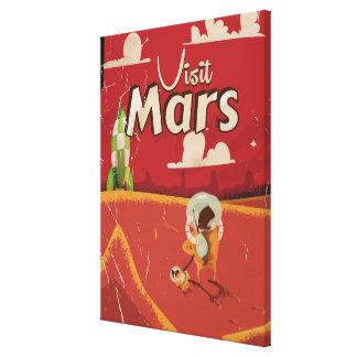 Mars Vintage Travel Poster Canvas Prints