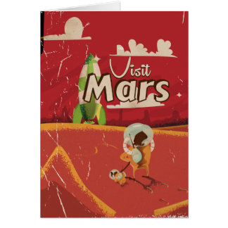 Mars Vintage Travel Poster Card