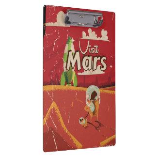 Mars Vintage Travel Poster Clipboard