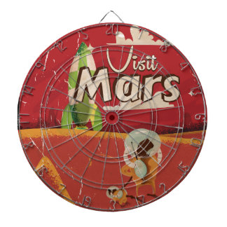 Mars Vintage Travel Poster Dart Board