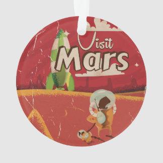Mars Vintage Travel Poster Ornament