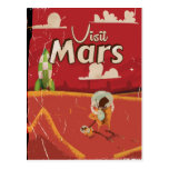 Mars Vintage Travel Poster Postcards
