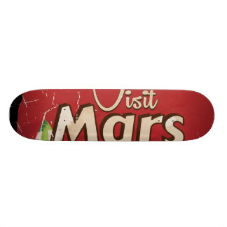 Mars Vintage Travel Poster Skateboard Deck