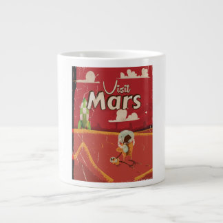 Mars Vintage Travel Poster Jumbo Mug