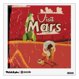 Mars Vintage Travel Poster Wall Decor
