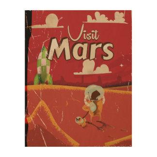 Mars Vintage Travel Poster Wood Wall Art