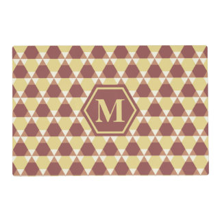 Marsala and Custard Triangle-Hex Placemat
