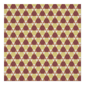 Marsala and Custard Triangle-Hex Poster