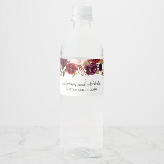 wedding water bottle labels