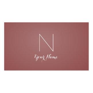 Marsala - atrevimiento sofisticado y con monograma tarjetas de visita