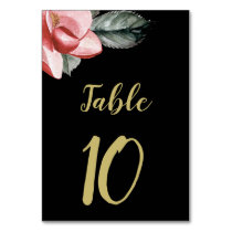 Marsala Black Floral Wedding Card