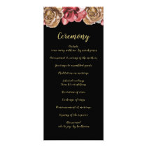 Marsala Black Floral Wedding programs