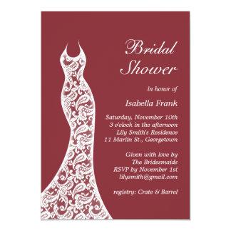 Marsala Bridal Shower Invitation