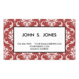 Marsala Classic Damask Pattern Double-Sided Standard Business Cards (Pack Of 100)