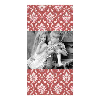 Marsala Classic Damask Pattern Card