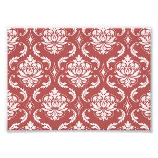 Marsala Classic Damask Pattern Photo Print