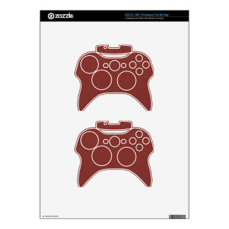 Marsala Color of the Year with faux fine Glitter Xbox 360 Controller Decal
