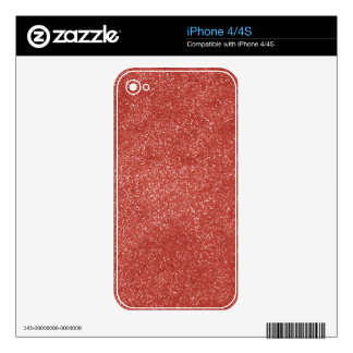 Marsala Color of the Year with faux Glitter Decal For iPhone 4