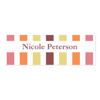 Marsala Color Trend Mommy Calling Double-Sided Mini Business Cards (Pack Of 20)