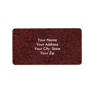 Marsala Cork Look Wood Grain Address Label
