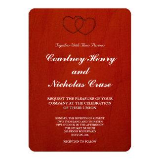 Marsala Crimson Wedding Invitations