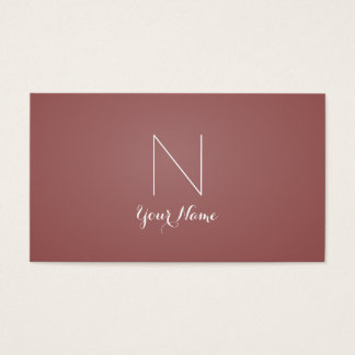 Marsala - Daring Sophisticated and Monogrammed Business Card