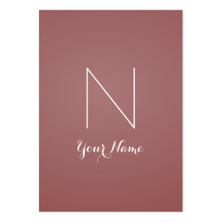 Marsala Fancy Stunning and Monogrammed Large Business Card