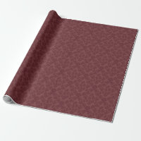 Marsala Floral Damask Wrapping Paper