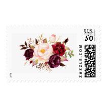 Marsala Floral Stamp