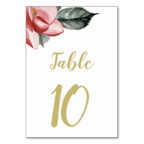 Marsala Floral Wedding Card