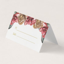 Marsala Floral Wedding Place Cards