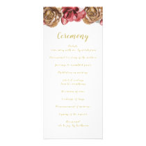Marsala Floral Wedding programs
