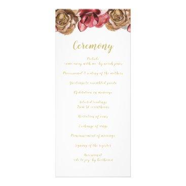Marsala Floral Wedding programs