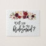 """Marsala Florals   Bridesmaid Proposal Puzzle<br><div class=""""desc"""">Marsala Florals   Bridesmaid Proposal Puzzle</div>"""