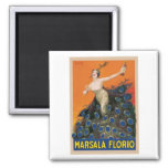 Marsala Florio 2 Inch Square Magnet