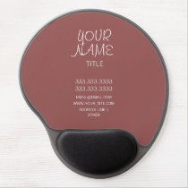 Marsala Freehand Simple Gel Mouse Pad