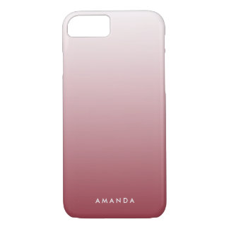 Marsala Gradient Ombre Personalized iPhone 8/7 Case