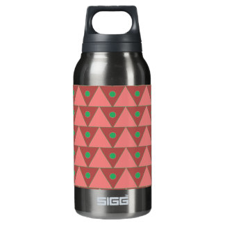 Marsala & Green Triangle Taube Bordeau Pattern Insulated Water Bottle