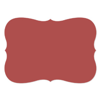Marsala High End Solid Color 5x7 Paper Invitation Card