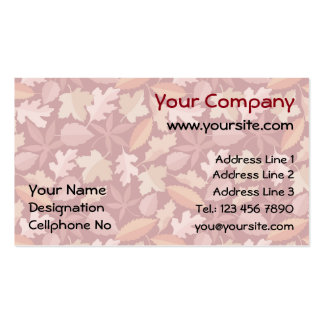Marsala leaves pattern Double-Sided standard business cards (Pack of 100)