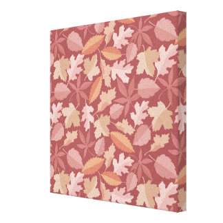Marsala leaves pattern canvas print