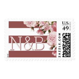 Marsala monogram postage stamps