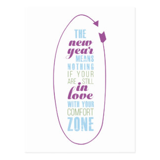Marsala  New Year Inspirational Quote Typography Postcard