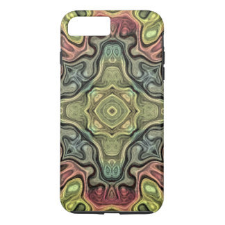 Marsala Red Ochre Yellow Teal Bali Batik Pattern iPhone 8 Plus/7 Plus Case