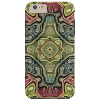 Marsala Red Ochre Yellow Teal Bali Batik Pattern Tough iPhone 6 Plus Case