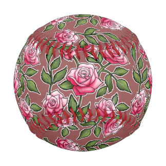 Marsala - Rose Floral Baseball